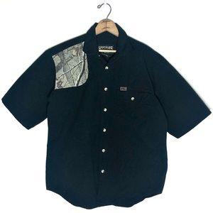 Sportsman's Camo Black Button Up Shooting Shirt